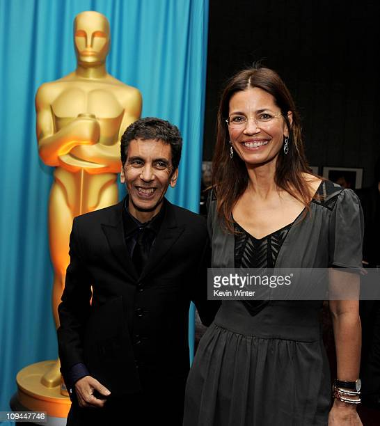 Director Rachid Bouchareb and screenwriter/director Susannah Grant pose at a reception to honor the Foreign Language Film Award directors at the...
