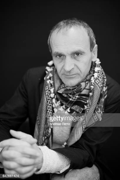 Director Raed Andoni poses at the 'Ghost Hunting' portrait session during the 67th Berlinale International Film Festival Berlin at Berlinale Palace...