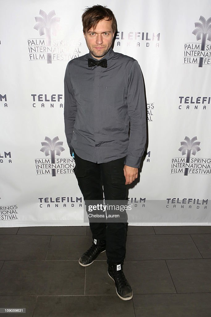 Director Rafael Ouellet arrives at the Canadian film party at the 24th annual Palm Springs International Film Festival on January 6, 2013 in Palm Springs, California.