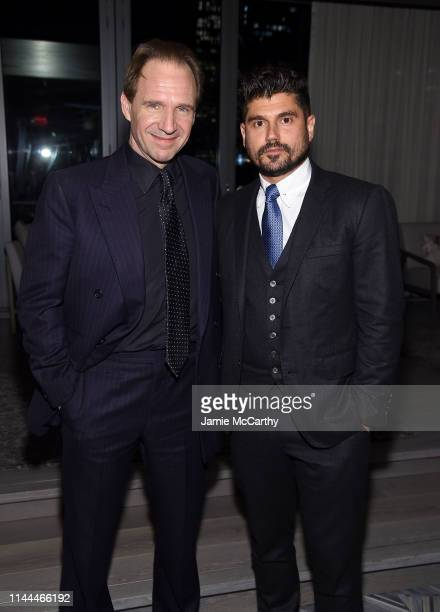 Director Ralph Fiennes and producer Andrew Levitas attend The White Crow New York Premiere after party at Rooftop At Pier 17 on April 22 2019 in New...