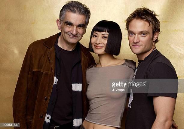 "Director Ramin Niami, Bai Ling and Chad Allen during 2003 Tribeca Film Festival - ""Paris"" Portraits at WireImage Portrait Studio, Michael Perez Pop..."