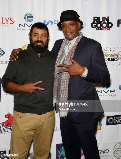Director Ramiro Avendano and Actor Tony Todd attend the All in for CP celebrity charity poker event benefiting the One Step Closer Foundation's...