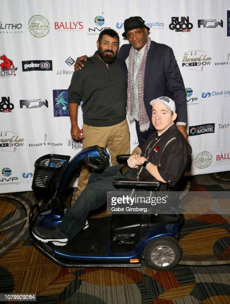 Director Ramiro Avendano One Step Closer Foundation founder Jacob Zalewski and actor Tony Todd attend the All in for CP celebrity charity poker event...