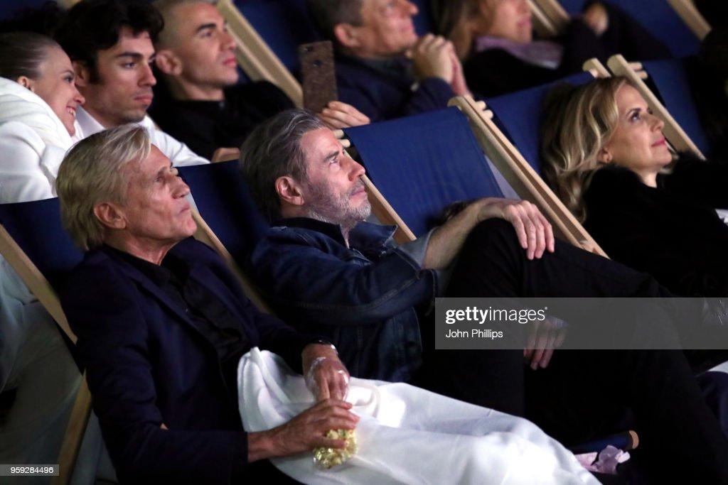 Director Randall Kleiser and actor John Travolta attend the 'Grease' 40th Anniversary Screening during the 71st annual Cannes Film Festival at on May 16, 2018 in Cannes, France.