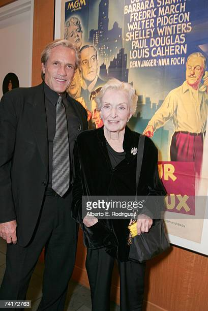 Director Randall Kleiser and actress Nina Foch attend the AMPAS Centennial Celebration for Barbara Stanwyck on May 16 2007 in Los Angeles California
