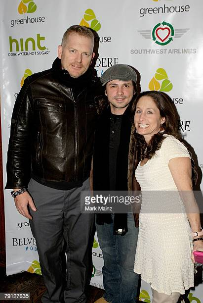 Director Randall Miller actor Freddy Rodriguez and producer Jody Savin attend the world premiere party for Nobel Son hosted by Eliza Dushku Alan...