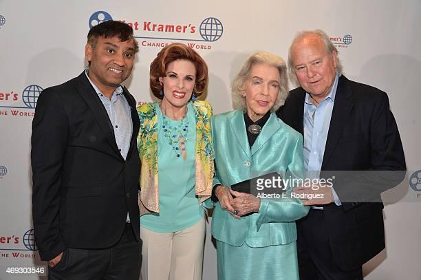 Director Ravi Kumar actress Kat Kramer actress Marsha hunt and proucer Leszek Burzynski attend Kat Kramer's Films That Change The World on April 10...