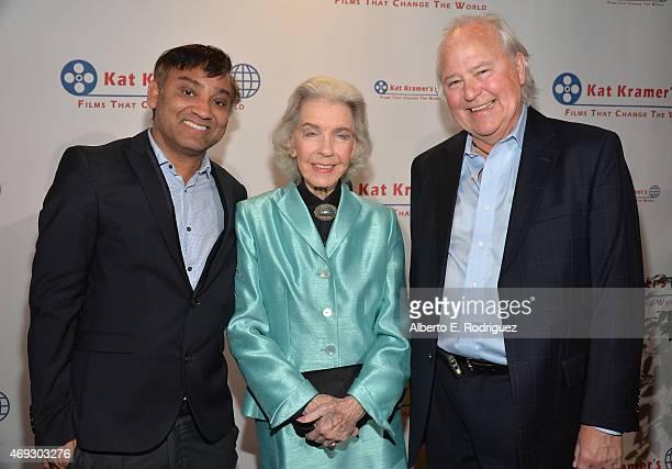 Director Ravi Kumar actress Marsha Hunt and producer Leszek Burzynski attend Kat Kramer's Films That Change The World on April 10 2015 in Hollywood...