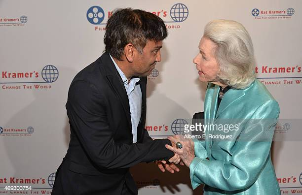 Director Ravi Kumar and actress Marsha Hunt attends Kat Kramer's Films That Change The World on April 10 2015 in Hollywood California