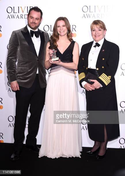 Director Rebecca Frecknall winner of Best Revival for Summer And Smoke with presenters Danny Dyer and Captain Inger Klein Thorhauge during The...