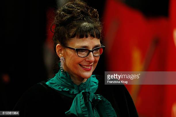Director Rebecca Miler attends the 'Maggie's Plan' premiere during the 66th Berlinale International Film Festival Berlin at FriedrichstadtPalast on...