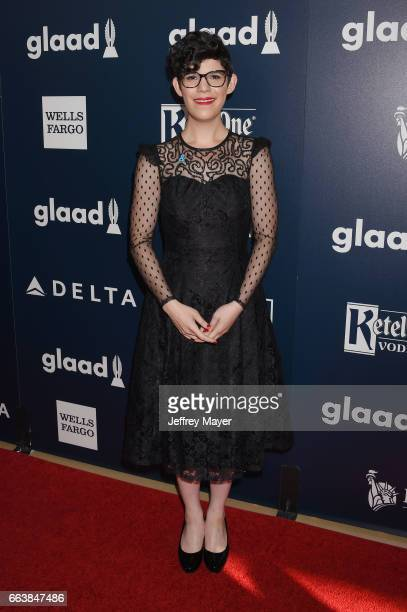 Director Rebecca Sugar attends the 28th Annual GLAAD Media Awards in LA at The Beverly Hilton Hotel on April 1 2017 in Beverly Hills California