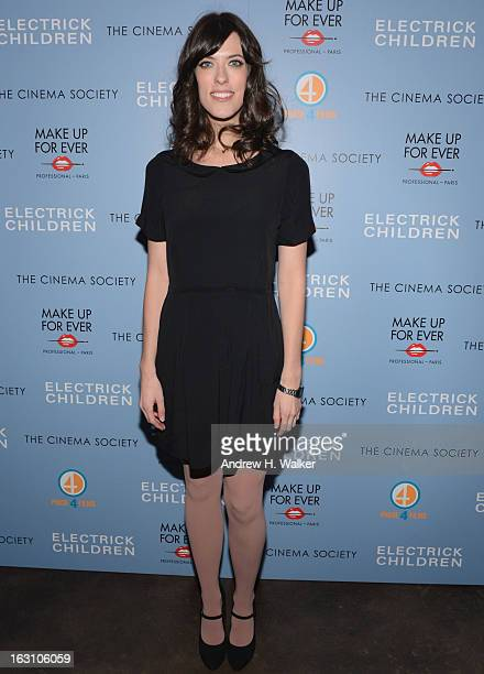 Director Rebecca Thomas attends The Cinema Society Make Up For Ever screening of Electrick Children at IFC Center on March 4 2013 in New York City
