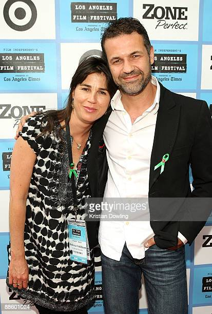 Director Rebecca Yeldham and Khaled Hosseini attend the 2009 Los Angeles Film Festival's Artists in Residence: Khaled Hosseini with a screening of...