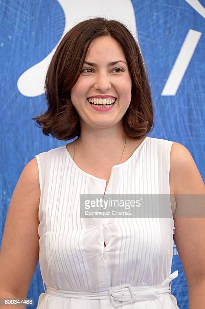 Director Rebecca Zlotowski attends a photocall for 'Planetarium' during the 73rd Venice Film Festival at Palazzo del Casino on September 8 2016 in...