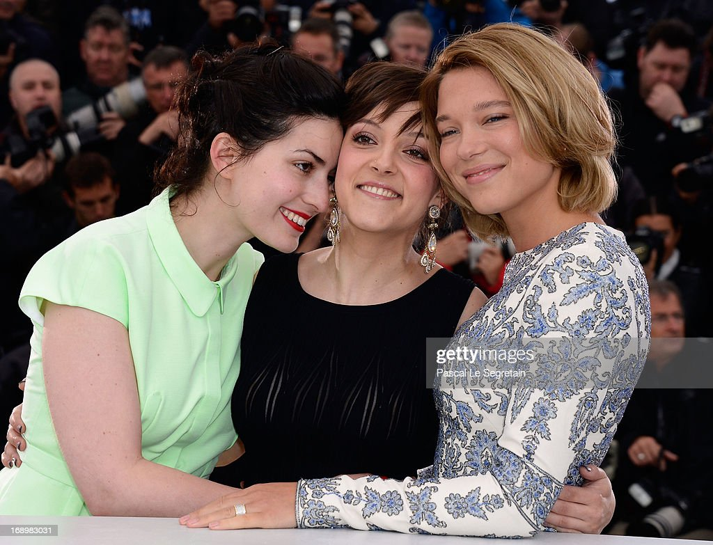 Director Rebecca Zlotowski, Camille Lellouche and actress Lea Seydoux attend the 'Grand Central' Photocall during The 66th Annual Cannes Film Festival at Palais des Festivals on May 18, 2013 in Cannes, France.