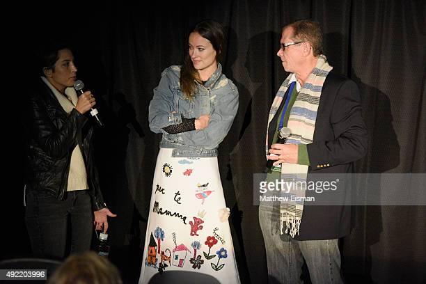Director Reed Morano, actress Olivia Wilde, and author Marshall Fine attend 'Meadowland ' Q & A during Day 3 of the 23rd Annual Hamptons...