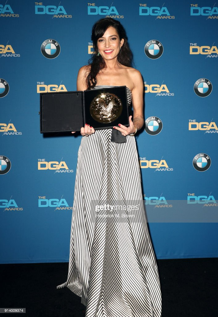 Director Reed Morano, winner of the award for Outstanding Directorial Achievement in Dramatic Series for 'The Handmaid's Tale' episode 'Offred', poses in the press room during the 70th Annual Directors Guild Of America Awards at The Beverly Hilton Hotel on February 3, 2018 in Beverly Hills, California.