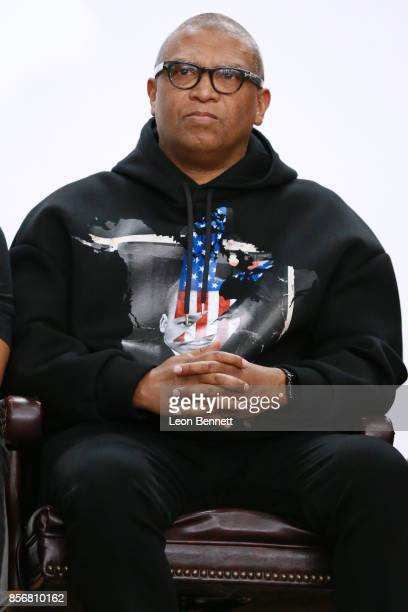 Director Reginald Hudlin attends the Compton High School Student Screening Of Open Road Films' 'Marshall' at Compton High School on October 2 2017 in...