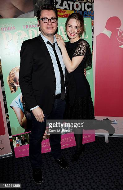 Director Regis Roinsard and Deborah Francois attend the London Film Premiere of 'Populaire' as part of the RendezVous with French Cinema program at...