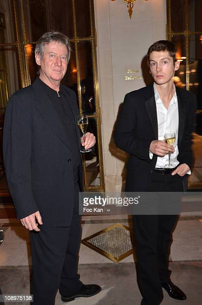 Director Regis Wargnier and actor Cyril Descours attend the Chaumet's Cocktail Party and Dinner for Cesar's Revelations 2011 at Hotel Chaumet and...
