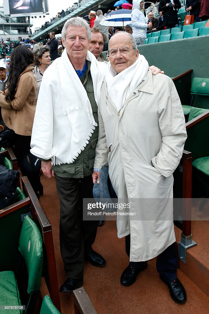 Director Regis Wargnier and Businessman Marc Ladreit de Lacharriere attend Day Twelve of the 2016 French Tennis Open at Roland Garros on June 2, 2016 in Paris, France.