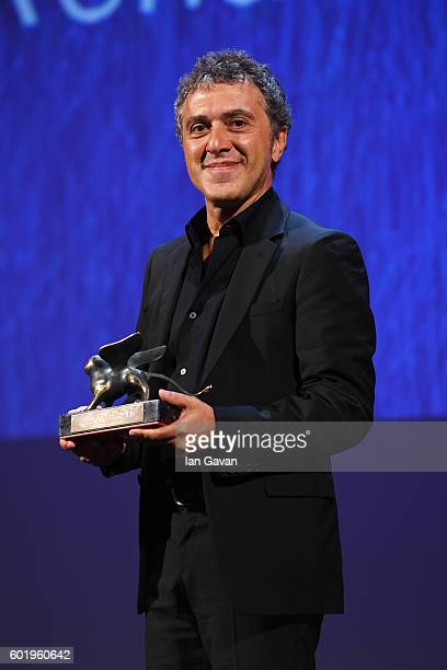 Director Reha Erdem poses with the Special Orizzonti Jury Prize for his movie 'Koca Dunya - ' during the closing ceremony of the 73rd Venice Film...