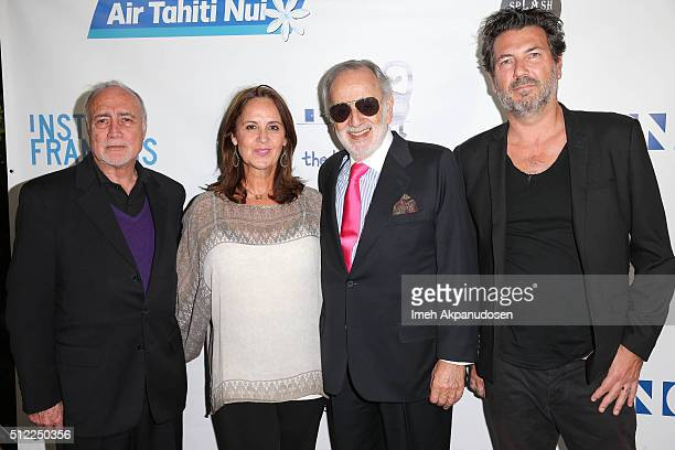 Director Remy Grumbach with Laurent Gousset Sabine MarchalJames and Nicolas Neidhardt attend the Imaginarium And SpLAshPR Agency Event at The Little...