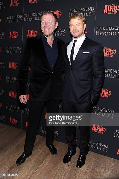 Director Renny Harlin and actor Kellan Lutz attend the The Legend Of Hercules premiere at the Crosby Street Hotel on January 6 2014 in New York City