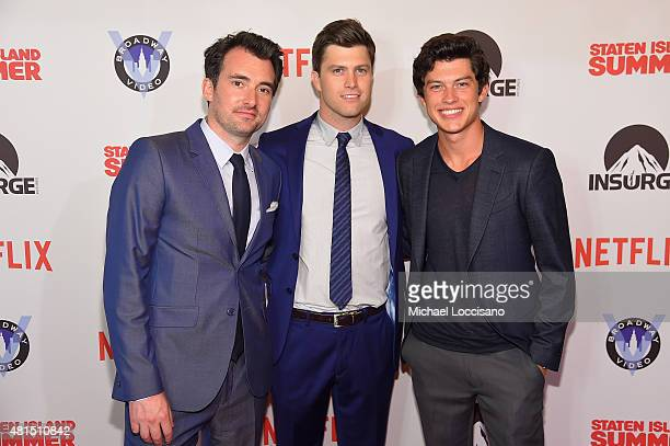 Director Rhys Thomas actor/writer Colin Jost and actor Graham Philips attend the Staten Island Summer New York Premiere at Sunshine Landmark on July...
