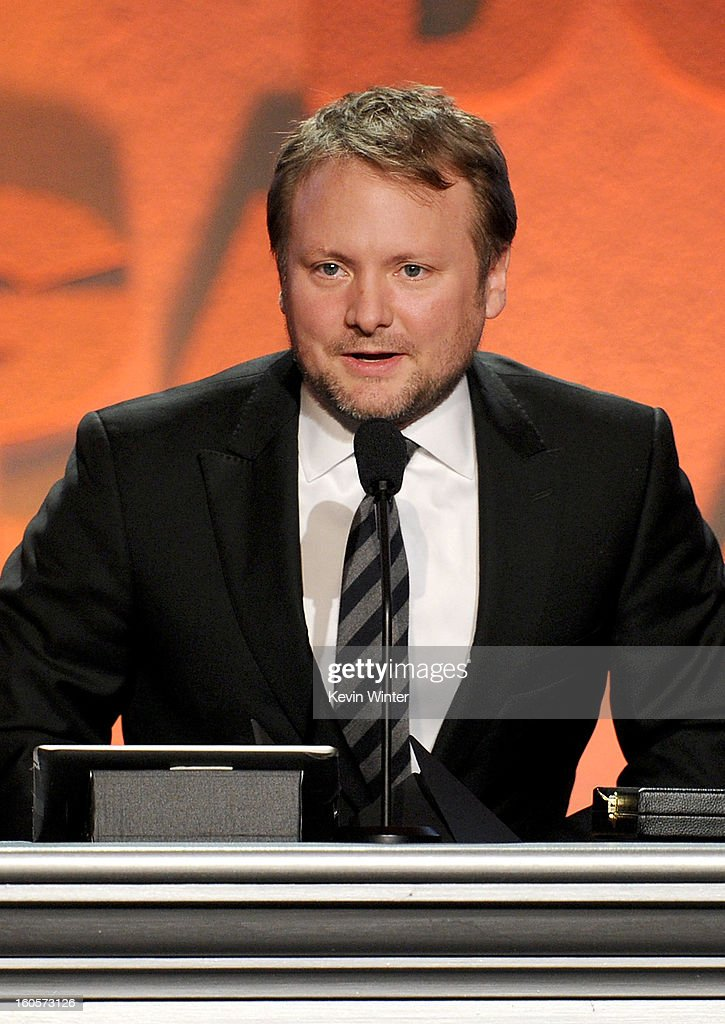 Director Rian Johnson accepts the Outstanding Directorial Achievement in Dramatic Series award for 'Breaking Bad' episode 'Fifty-One' onstage during the 65th Annual Directors Guild Of America Awards at Ray Dolby Ballroom at Hollywood & Highland on February 2, 2013 in Los Angeles, California.