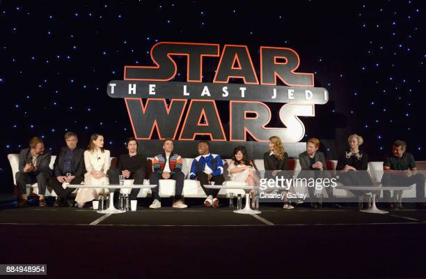Director Rian Johnson actors Mark Hamill Daisy Ridley Adam Driver Oscar Isaac John Boyega Kelly Marie Tran Laura Dern Domhnall Gleeson Gwendoline...