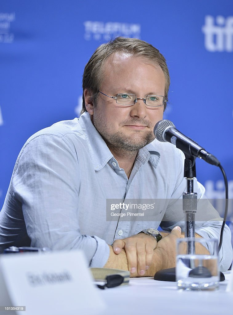 Director Rian Johnson attends the 'Looper' press conference during the 2012 Toronto International Film Festival at TIFF Bell Lightbox on September 6, 2012 in Toronto, Canada.