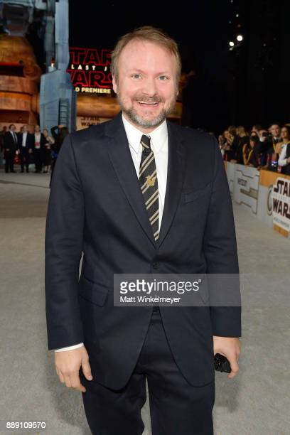Director Rian Johnson attends the premiere of Disney Pictures and Lucasfilm's Star Wars The Last Jedi at The Shrine Auditorium on December 9 2017 in...