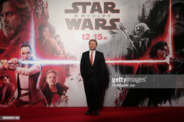 Director Rian Johnson attends the 'Star Wars The Last Jedi' Japan Premiere Red Carpet at Roppongi Hills on December 6 2017 in Tokyo Japan