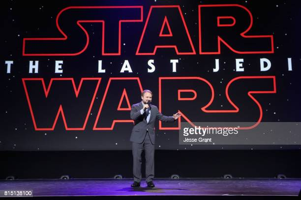 Director Rian Johnson of STAR WARS THE LAST JEDI took part today in the Walt Disney Studios live action presentation at Disney's D23 EXPO 2017 in...