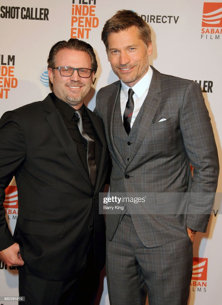 Director Ric Roman Waugh and actor Nikolaj Coster-Waldau attend the screening of Saban Films and DIRECTV's' 'Shot Caller' at The Theatre at Ace Hotel on August 15, 2017 in Los Angeles, California.