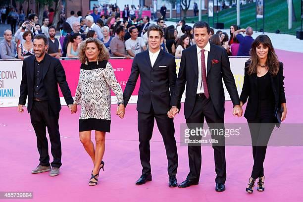 Director Riccardo Donna producer Matilde Bernabei actor Martin Rivas producer Luca Bernabei and actress Alessandra Mastronardi attend 'Romeo...