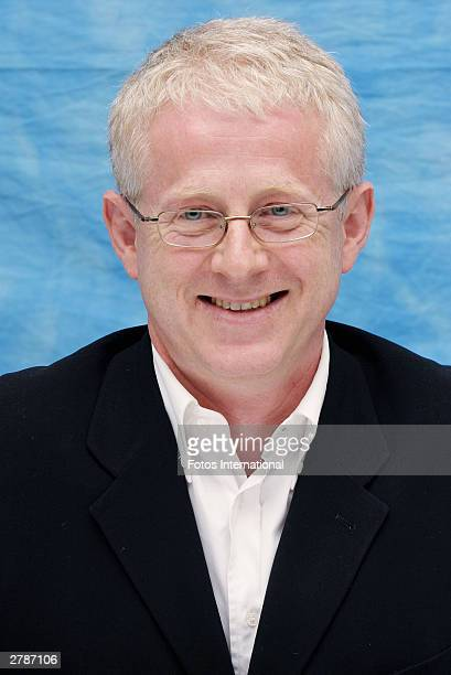 "Director Richard Curtis answers questions from the press at a junket for his new film ""Love Actually"" at the Dorchester Hotel October 10, 2003 in..."