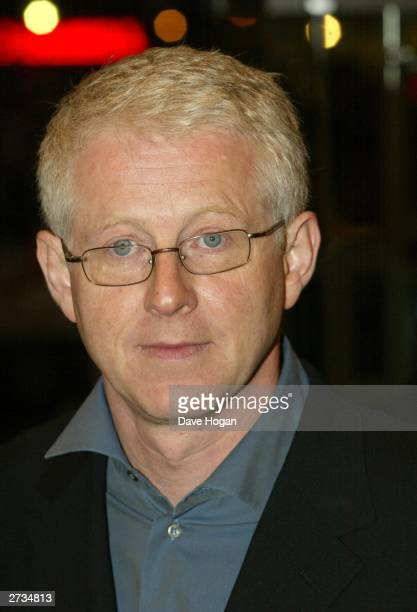 "Director Richard Curtis attends the UK charity film premiere of ""Love Actually"" at The Odeon Leicester Square on November 16, 2003 in London."