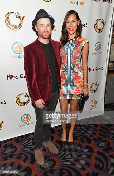 Director Richard Gray and actress Rebecca Da Costa attend the premiere of the film Mine Games at Los Feliz 3 Cinemas on September 16 2014 in Los...