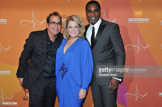 Director Richard JayAlexander Deborah Voigt and Norm Lewis attend the opening night of Dr Phillips Center for the Performing Arts Broadway Beyond on...