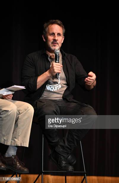 """Director Richard Ladkani speaks onstage at the """"Sea of Shadows"""" screening and Q&A during the 22nd SCAD Savannah Film Festival on November 02, 2019 at..."""
