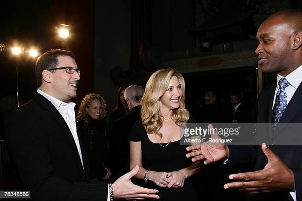 Director Richard LaGravenese actress Lisa Kudrow and producer Broderick Johnson arrive at the premiere of Warner Bros' 'PS I Love You' held at...