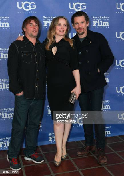 Director Richard Linklater actress Julie Delpy and actor Ethan Hawke attend the 29th Santa Barbara International Film Festival closing night...