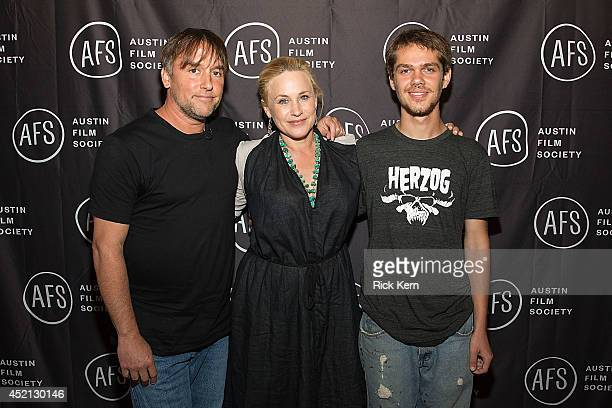 Director Richard Linklater, actress Patricia Arquette, and actor Ellar Coltrane pose for a photo during the premiere of 'Boyhood' at Marchesa Hall &...