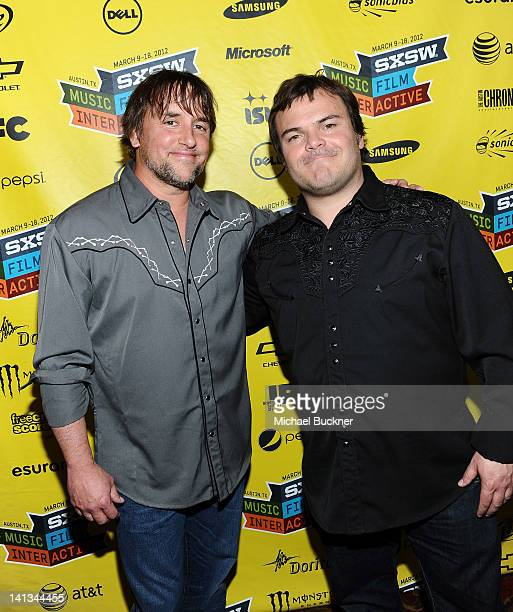 Director Richard Linklater and actor Jack Black attend the world premiere of Bernie during the 2012 SXSW Music Film Interactive Festival at Paramount...