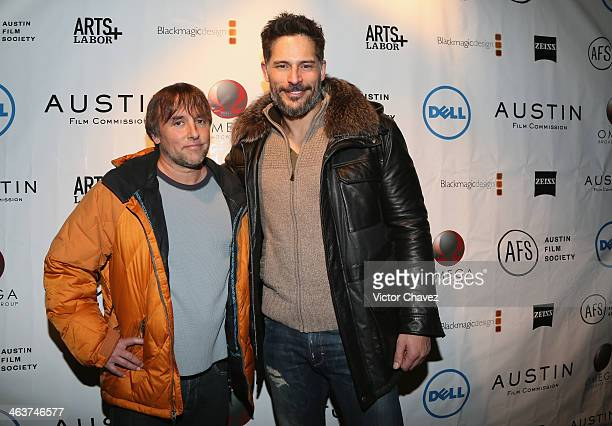 Director Richard Linklater and actor Joe Manganiello attend The Austin Film Society Austin Film Commission Host A Party To Celebrate Austin...