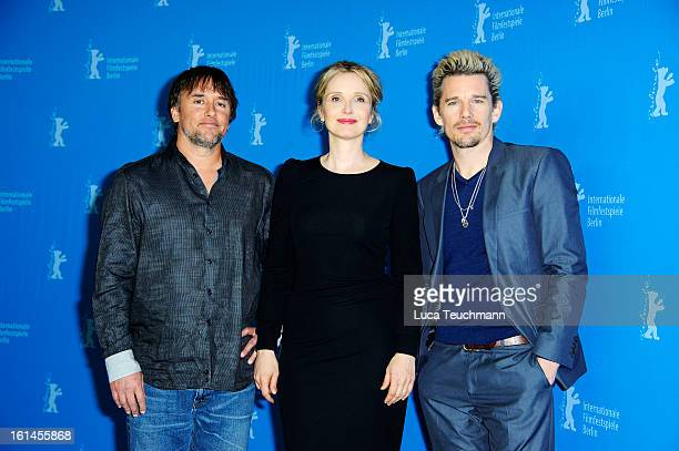 Director Richard Linklater and actors Julie Delpy and Ethan Hawke attend the 'Before Midnight' Photocall during the 63rd Berlinale International Film...