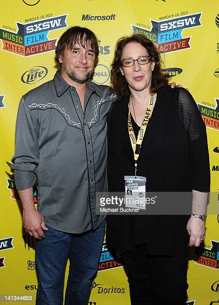 Director Richard Linklater and Janet Pierson Producer SXSW Film Festival attend the world premiere of Bernie during the 2012 SXSW Music Film...
